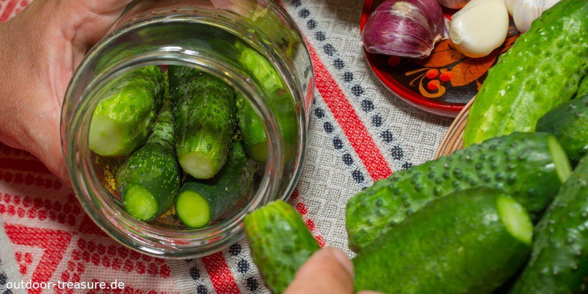 Gurken in Glas einlegen: Grundlegende Tipps